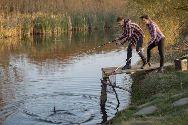 fiske i sø